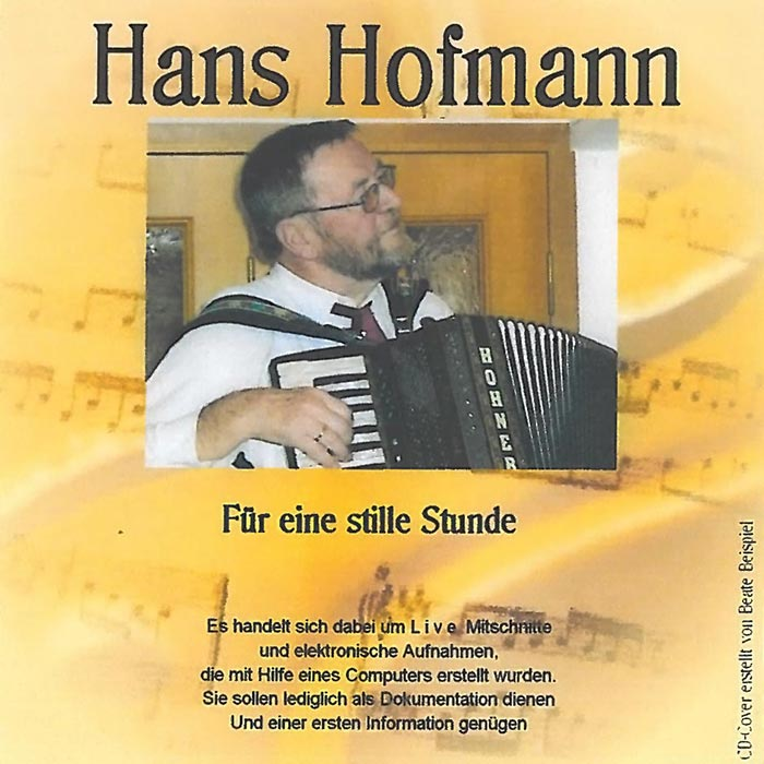 CD Hans Hofmann - Für eine stille Stunde