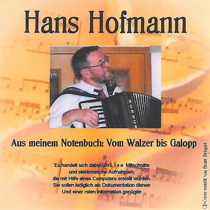 CD - Hans Hofmann - Vom Walzer bis Galopp